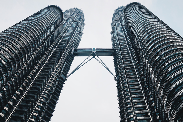 Petronas Towers in Kuala Lumpur, der Hauptstadt Malaysias
