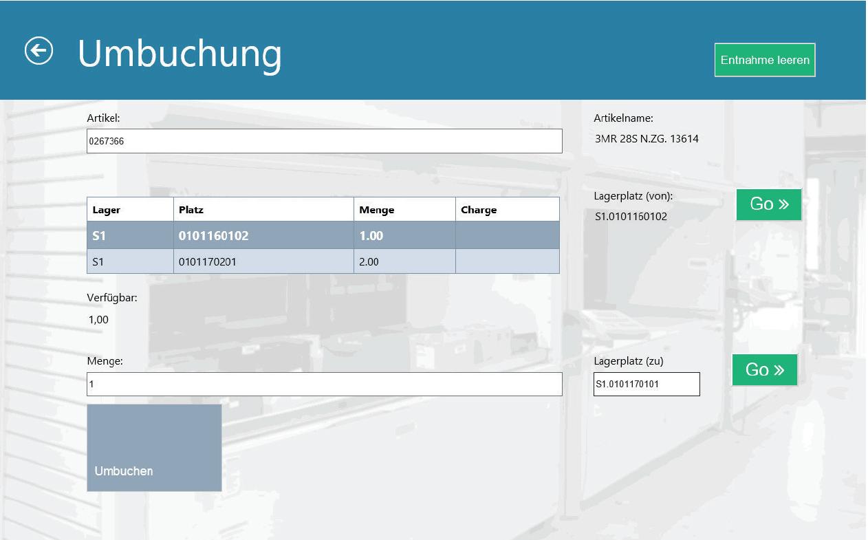 Ein screenshoot aus der Bedienmaske für unsere Liftsoftware