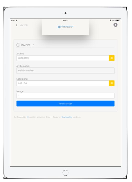 Scanner - Software flexmobility platform