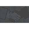 Händeschütteln-Symbol in Schwarz-Weiß